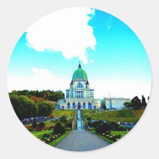 Saint Joseph Montreal chauch Classic Round Sticker