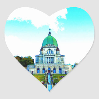 Saint Joseph Montreal chauch Heart Sticker