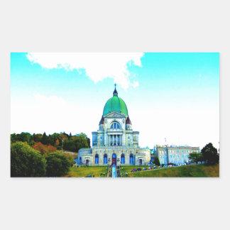 Saint Joseph Montreal chauch Rectangular Sticker