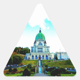 Saint Joseph Montreal chauch Triangle Sticker