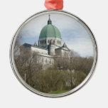 Saint Joseph Oratory, Montreal Round Metal Christmas Ornament
