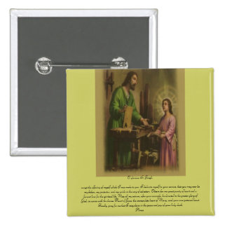 Saint Joseph Prayer Pinback Button