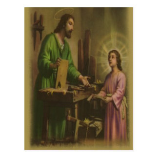 Saint Joseph Prayer Postcard
