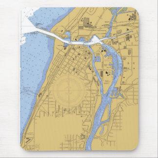 Saint Joseph River, Michigan Nautical Harbor Chart Mouse Pad