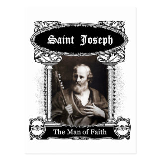 Saint Joseph - The Man of Faith Postcard