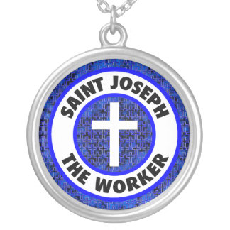 Saint Joseph the Worker Silver Plated Necklace