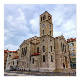 Saint Joseph's Church in Sarajevo. Bosnia and Herz Card
