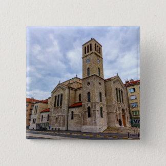 Saint Joseph's Church in Sarajevo. Bosnia and Herz Pinback Button