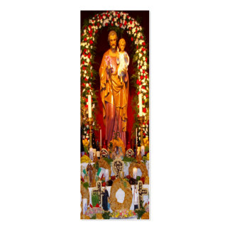 Saint Joseph's Day Altar Business Card Templates