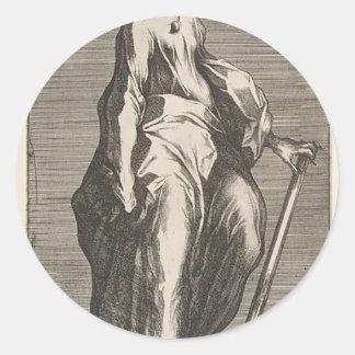 Saint Jude (or Saint Matthias) Classic Round Sticker