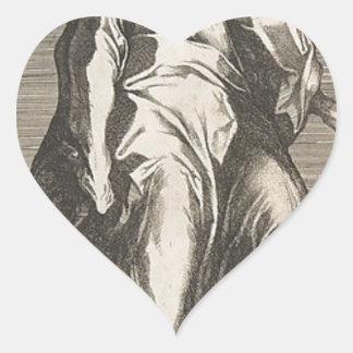 Saint Jude (or Saint Matthias) Heart Sticker