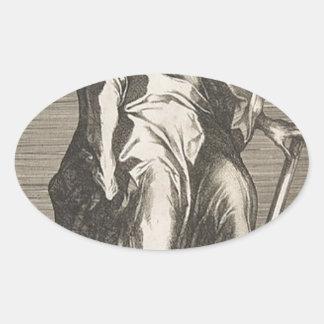 Saint Jude (or Saint Matthias) Oval Sticker