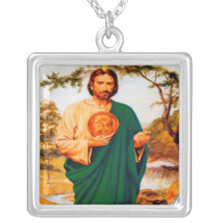Saint Jude Silver Plated Necklace