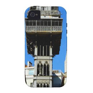 Saint Justa Lift, Lisbon, Portugal iPhone 4 Case