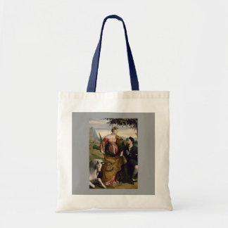 Saint Justina with the Unicorn Tote Bag