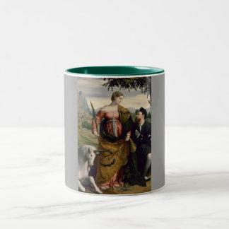Saint Justina with the Unicorn Two-Tone Coffee Mug
