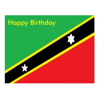 Saint Kitts and Nevis birthday Postcard