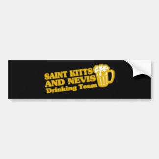 SAINT KITTS AND NEVIS CAR BUMPER STICKER