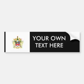 Saint_Kitts and Nevis Coat of Arms Bumper Sticker