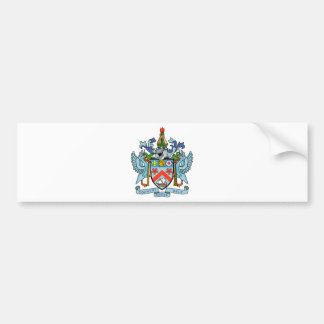 Saint Kitts and Nevis Coat of Arms Car Bumper Sticker