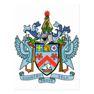 Saint Kitts and Nevis Coat of Arms Postcard