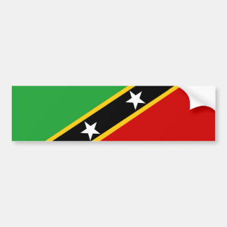 saint kitts and nevis country flag nation symbol bumper sticker