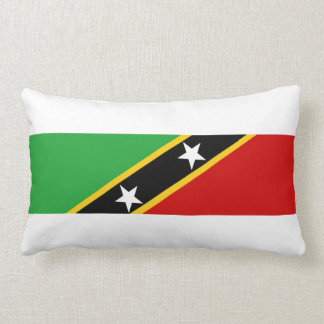 saint kitts and nevis country flag nation symbol throw pillow