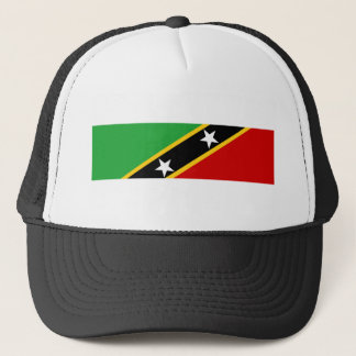 saint kitts and nevis country flag nation symbol trucker hat