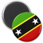 Saint Kitts And Nevis Flag 2 Inch Round Magnet