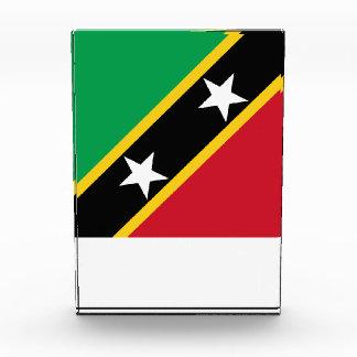 Saint Kitts and Nevis Flag Acrylic Award