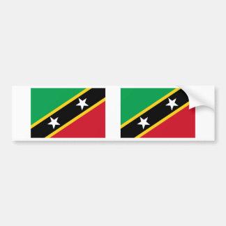 Saint Kitts and Nevis Flag Car Bumper Sticker