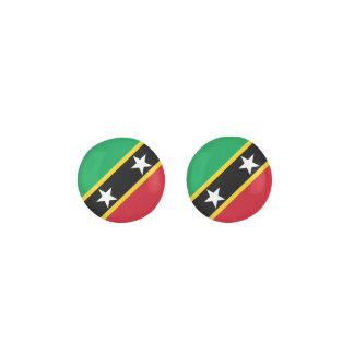 Saint Kitts and Nevis Flag Earrings