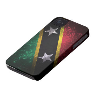 Saint Kitts and Nevis Flag Firework Case-Mate iPhone 4 Case