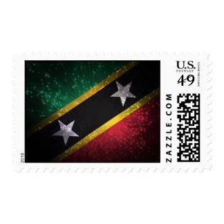Saint Kitts and Nevis Flag Firework Postage