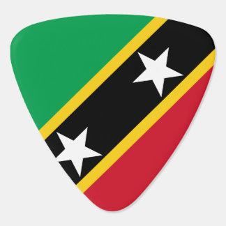 Saint Kitts and Nevis Flag Guitar Pick