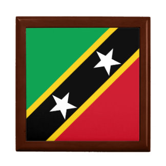 Saint Kitts and Nevis Flag Jewelry Box