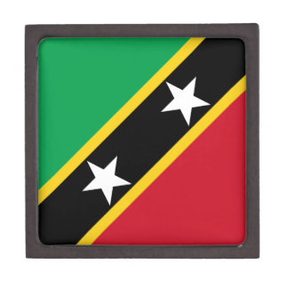Saint Kitts and Nevis Flag Keepsake Box