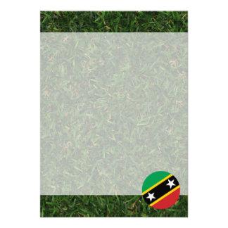 "Saint Kitts and Nevis Flag on Grass 5"" X 7"" Invitation Card"