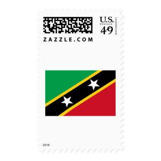 Saint Kitts and Nevis Flag Postage Stamp