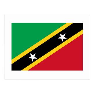 Saint Kitts and Nevis Flag Postcard