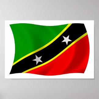 Saint Kitts and Nevis Flag Poster Print