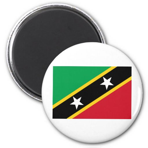 Saint Kitts and Nevis Flag Refrigerator Magnets