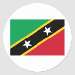 Saint Kitts and Nevis Flag Round Stickers