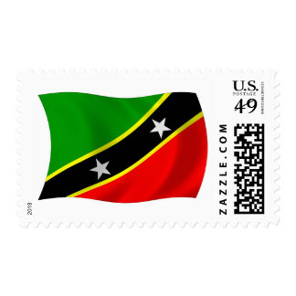 Saint Kitts and Nevis Flag Stamps