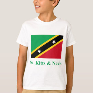 Saint Kitts and Nevis Flag with Name T-Shirt