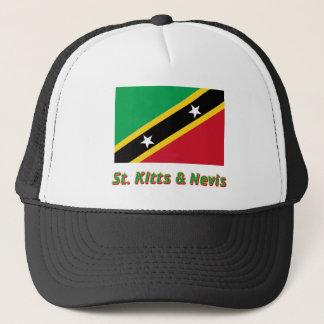 Saint Kitts and Nevis Flag with Name Trucker Hat