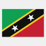Saint Kitts and Nevis Flag Yard Sign