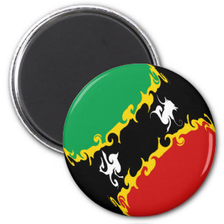 Saint Kitts and Nevis Gnarly Flag Magnet