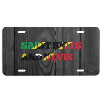 Saint Kitts and Nevis License Plate