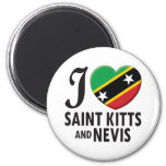 Saint Kitts and Nevis Love 2 Inch Round Magnet